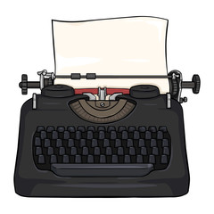 Vector Cartoon Retro Typewriter