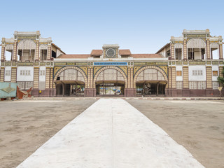 Abandoned railway station of Dakar, Senegal, colonial building