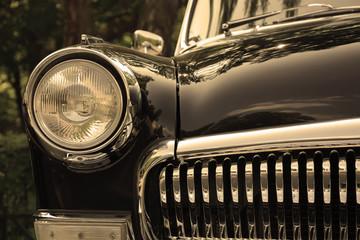 Retro postcard of the vintage car