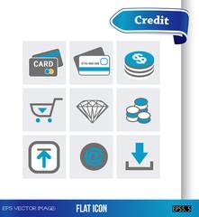 eps Vector image:Flat icon Credit