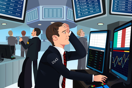 Stock trader in stress