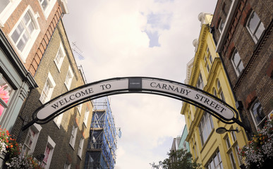Welcome to Carnaby Street road sign