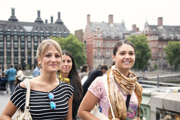 Group of young girls in London