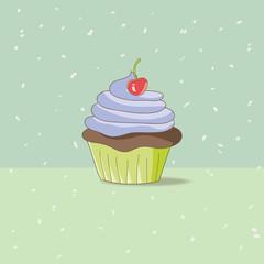 Hand-Drawn Cupcake