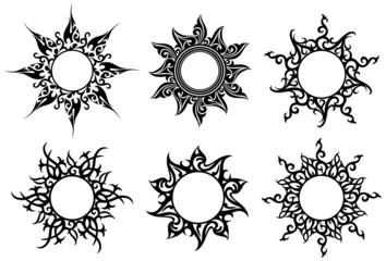 Tattoo, floral ornaments