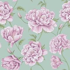 pattern peony flower illustration