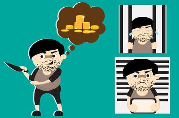 criminal cartoon