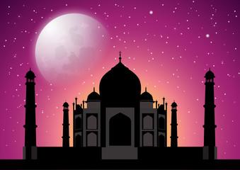 Taj Mahal at starry night