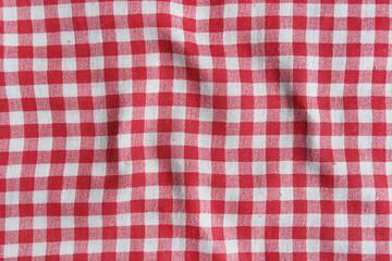 Red italian picnic cloth texture.