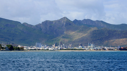 Africa, area of Port Louis in Mauritius