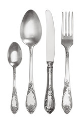 Cutlery set with vintage Fork, Knife and Spoons