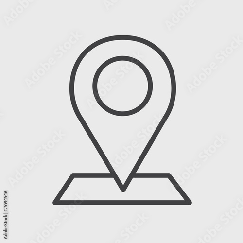 Check In Location Direction Place Icon Vector Concept Stock Photo