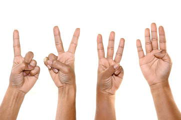 hand show 1 2 3 4