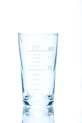 Temperature resistant conical beaker for measurements 50 ml