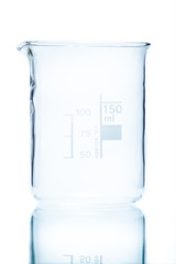 Temperature resistant cylindrical beaker for measurements 150 ml