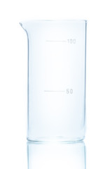 Temperature resistant cylindrical beaker for measurements 100ml