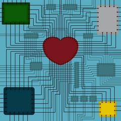 Scheme with heart
