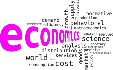 word cloud - economics