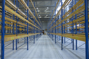 empty new warehouse prepared to start business