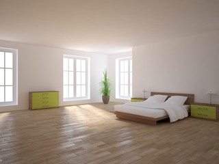 white 3d bedroom