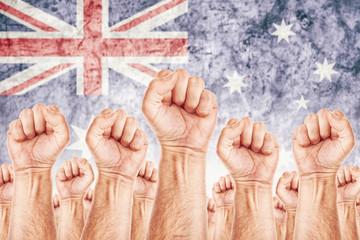 Australia Labour movement, workers union strike