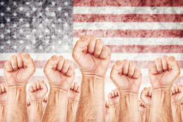 USA Labour movement, workers union strike
