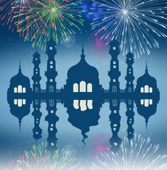 fireworks in the Mosque