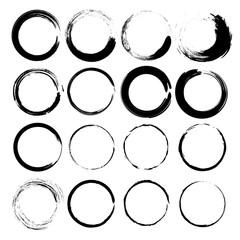 Grunge circles vector.