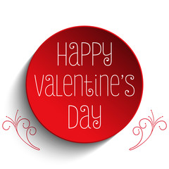 Valentine Day I Love you Button