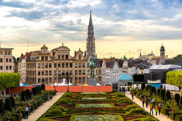 Foto op Canvas Brussel Cityscape of Brussels
