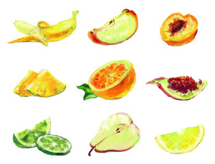 drawing slices of fruit