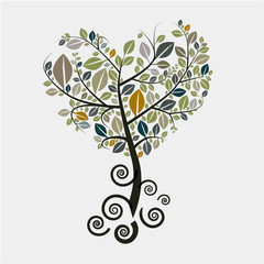 Tree Vector Symbol with Curled Roots