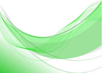 sfondo onda fluo verde