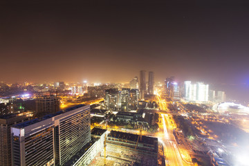 skyline,buildings and cityscape of modern city,hangzhou,during s