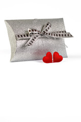 Valentine's day decoration on white with clipping path