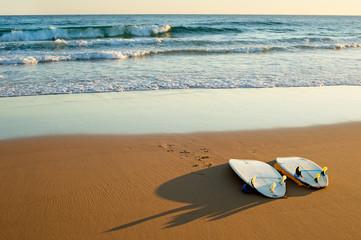 Surfdoards on the beach