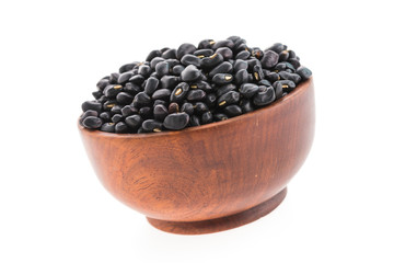 black beans bowl isolated