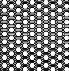 Abstract geometric seamless pattern. Hexagon background.