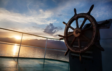 Cruise at sunset