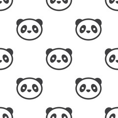 panda, vector seamless pattern .