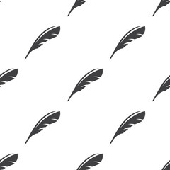 feather, vector seamless pattern .