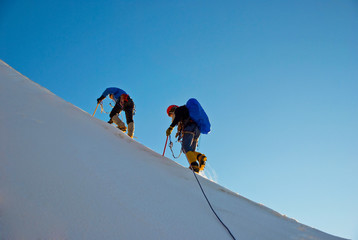 Photo sur Aluminium Alpinisme Winter alpine trekking
