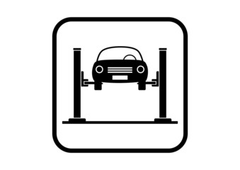 Car service icon on white background