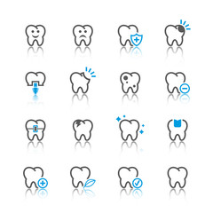 Tooth icons set.