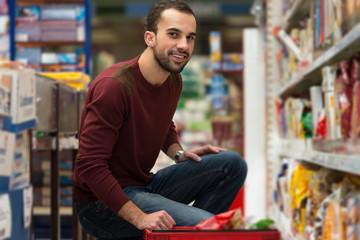 Man At Groceries Store