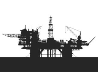 Sea oil rig. Oil platform in the sea.