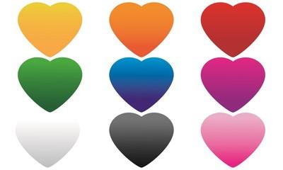 Stampa Biglietto Auguri Cuori  Amore San Valentino 14 Febbraio