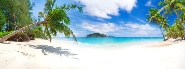 Panorama of the tropical beach in Thailand