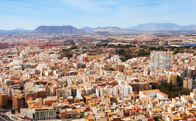 Alicante cityscape from Castle