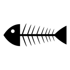 Skeleton of fish icon